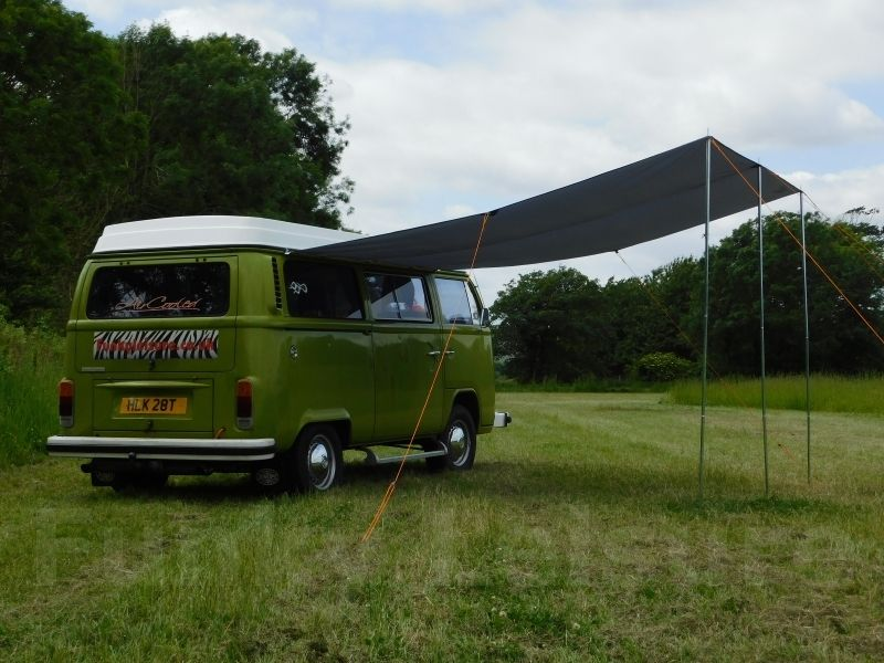 Vw Type 2 T25 Campervan Sun Canopy Awning Forest Green